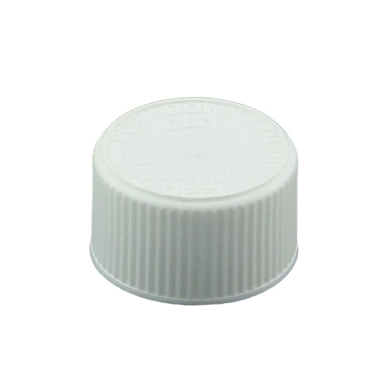 24mm 400 CRC White PP LAF217 Wadded Screw Cap