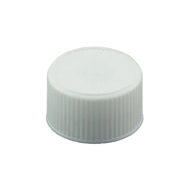 24mm 400 CRC White PP Cello Wadded Screw Cap