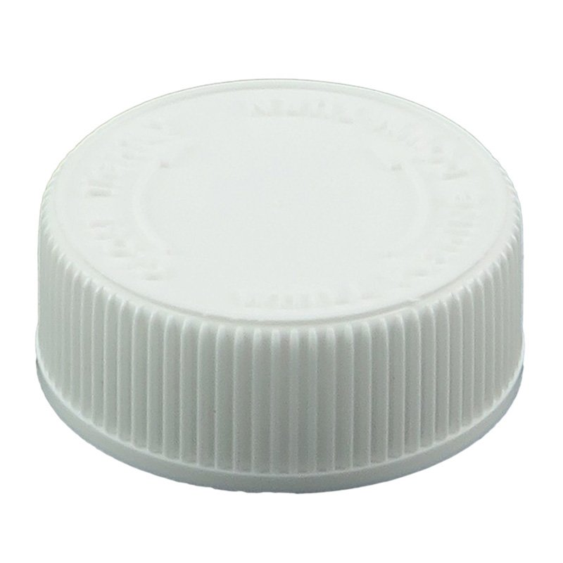 38mm 400 WHITE CHILD|RESISTANT CLOSURE WITH|CELLO WADDED - RIBBED WALLS