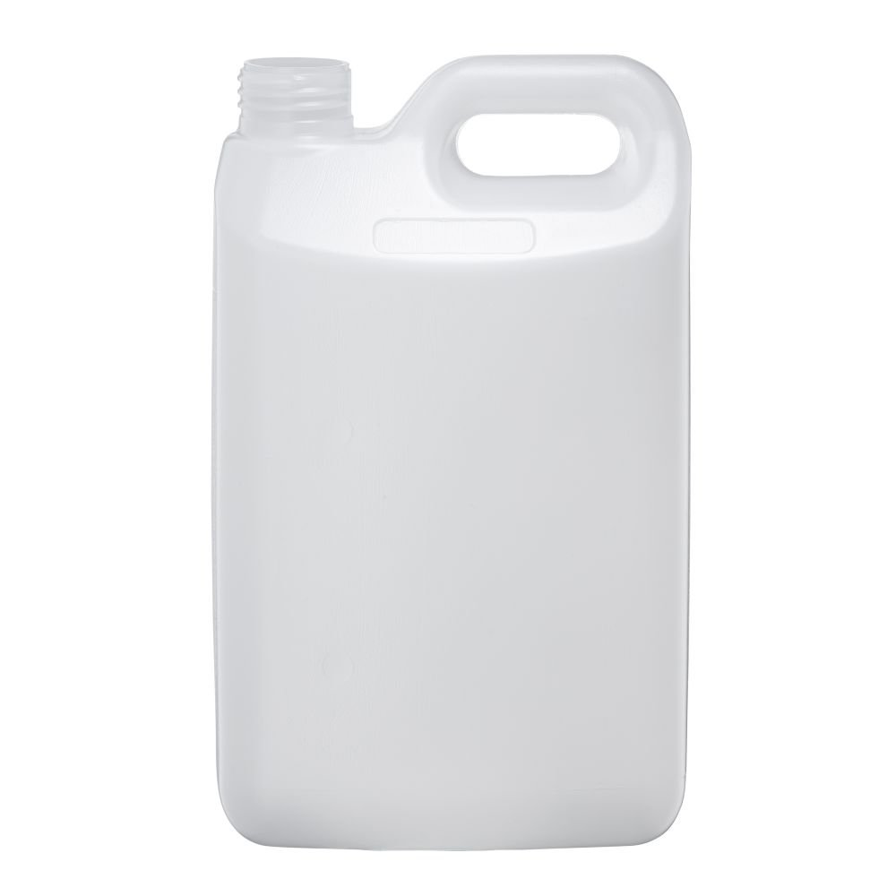 2.5L Natural HDPE Rectangular Jerrican With 38mm 410 Screw Neck