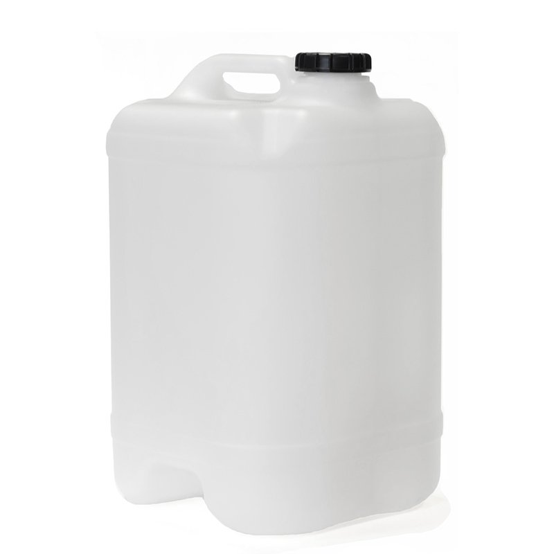 25L Natural HDPE Undrilled & Bunged Cube With 58mm TE Screw Neck