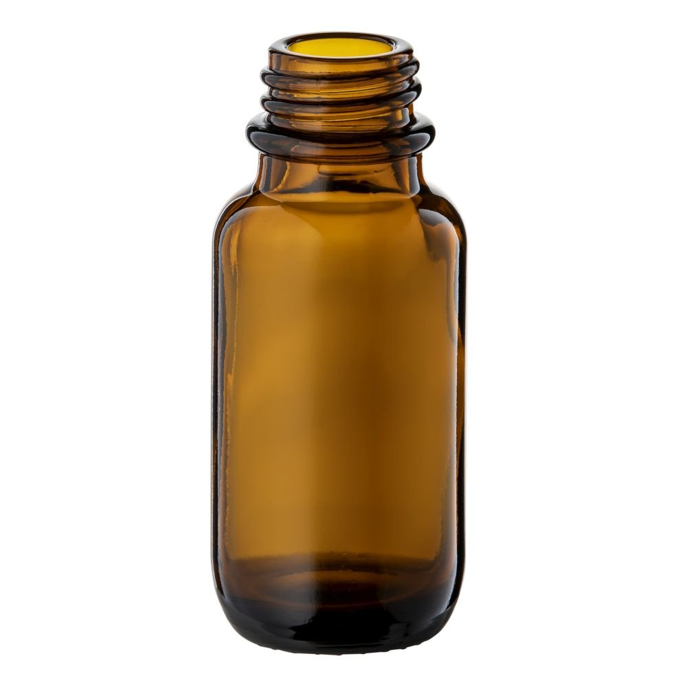 25ml Amber Glass Round Bottle With 20mm 400 Screw Neck