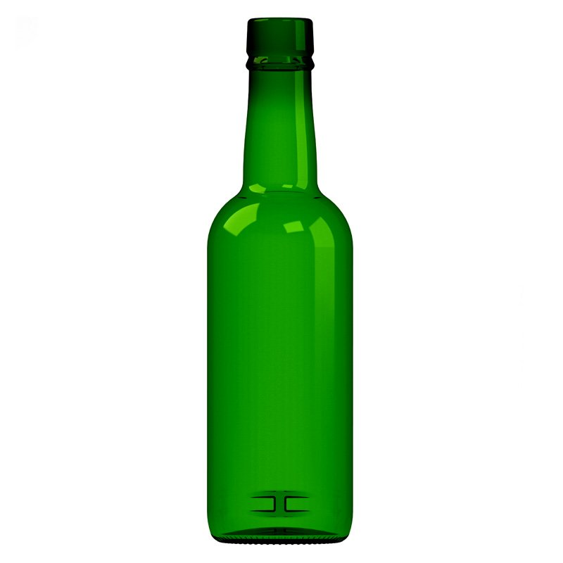 375ml Euro Green Glass Port Bottle With Cork Neck