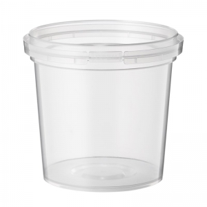 1.1L Clear PP Tub With No Handle With TE Push On Neck