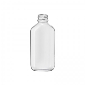 100ml Clear PVC Oval Bottle With 22mm 400 Screw Neck