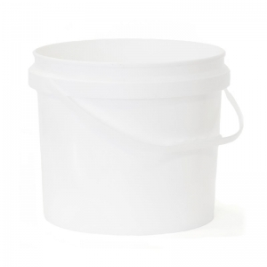10L White PP Pail With Plastic Handle With TE Push On Neck