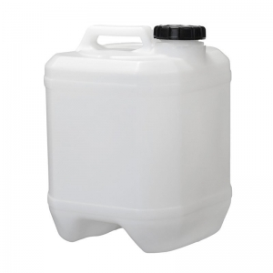 10L White HDPE Octagonal Cube With 58mm TE Screw Neck