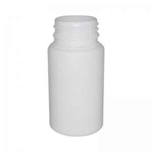 120ml White HDPE Round Tablet Bottle With 38mm TT Screw Neck (IBM)