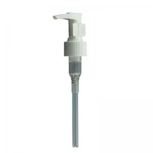 24mm 410 White Screw Lotion Pump With Travel Clip