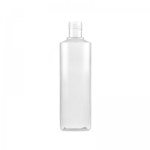 250ml Clear PVC Round Bottle With 24mm 415 Screw Neck