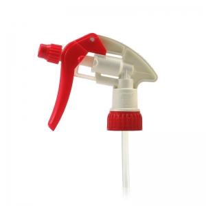 28mm 400 Red & White Screw Adjustable Trigger Spray With 185mm Dip Tube FBOG