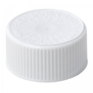 28mm 400 CRC  White PP Cello Wadded Screw Cap