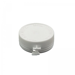 35mm White LDPE Push On Pharmavial Cap