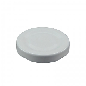 48mm RTO White Metal Twist Cap