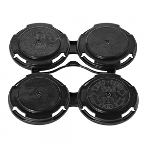 Black 4 Pack Can Carry Handle