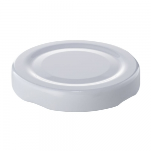 53mm RTO White Metal Twist Cap 0.2mm
