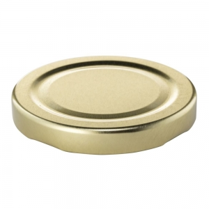 63mm RTO Bright Gold Metal Twist Cap 0.2mm