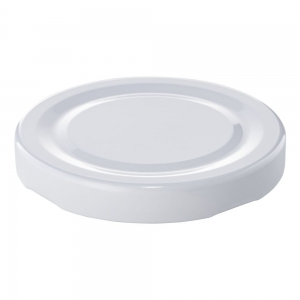 63mm RTO White Metal Twist Cap 0.2mm