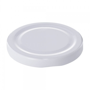 70mm RTO White Metal Twist Cap