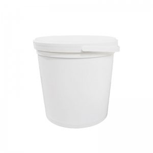 11L White PP Pail With TE Push On Neck