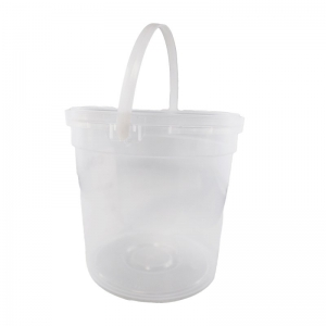 2.3L Clear PP Pail With TE Push On Neck