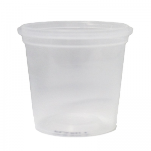 380ml Clear PP Tub With TE Push On Neck
