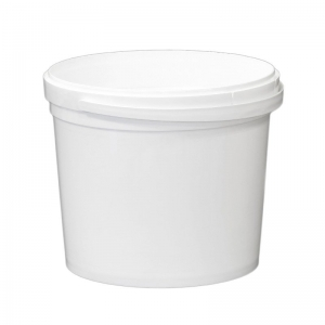 5.2L White PP Pail With TE Push On Neck