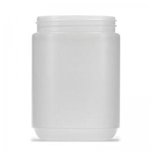 1L Natural HDPE Round Jar With 95mm 400 Screw Neck