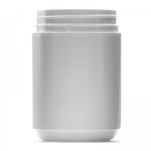 1L White HDPE Round Jar With 95mm TE Screw Neck