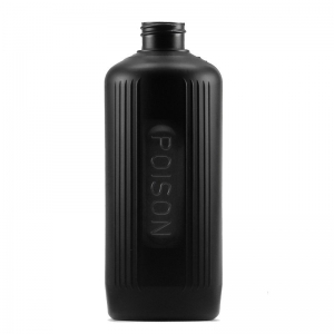 500ml Black HDPE Poison Bottle Poison Bottle With 28mm 410 Screw Neck