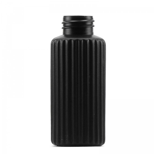 125ml Black HDPE Poison Bottle Poison Bottle With 28mm 410 Screw Neck
