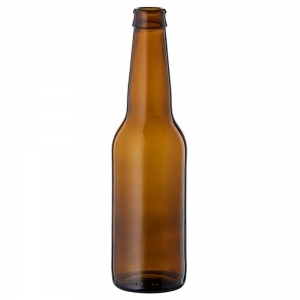 330ml Amber Glass Long Neck Beer Bottle With 26mm Crown Seal Neck