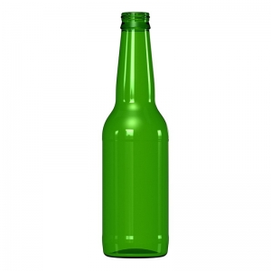 330ml Classic Green Glass Long Neck Beer Bottle With 26mm Twist Crown Seal Neck