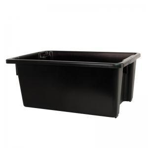 52L Black PP Crate 645X413X276mm