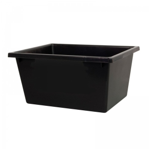 22L Black Recycled PP Crate Recycled