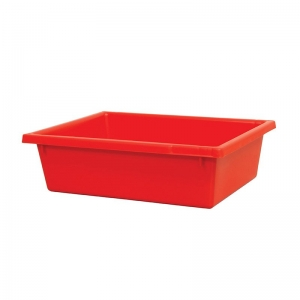 13L Red Recycled PP Crate 430X323X127mm
