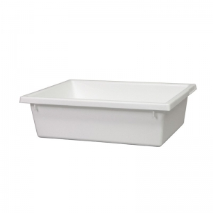 13L White Recycled PP Crate 430X323X127mm
