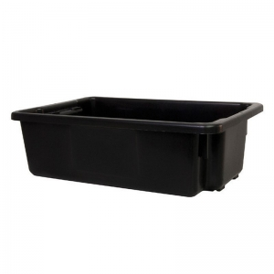 32L Black Recycled PP Crate 645X413X200mm
