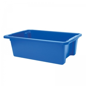 32L Blue Recycled PP Crate 645X413X200mm