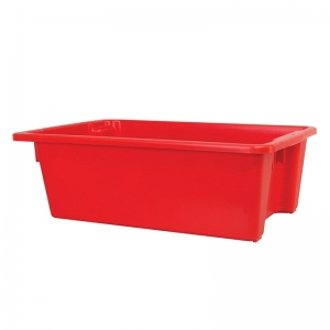 32L Red Recycled PP Crate 645X513X200mm