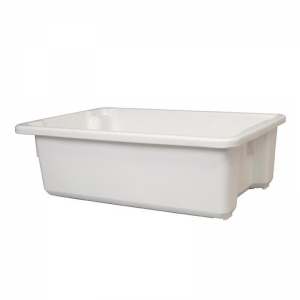32L White Recycled PP Crate 645X413X200mm