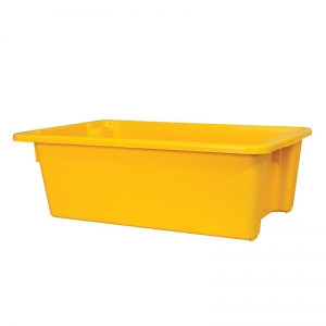 32L Yellow Recycled PP Crate 645X413X200mm