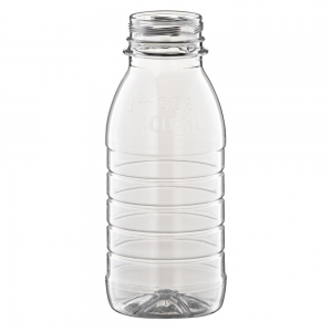 300ml Clear PET Round Juice Bottle With 38mm Petloc Neck