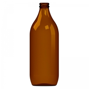 660ml Amber Glass Birra Bottle WIth Crown Seal Neck