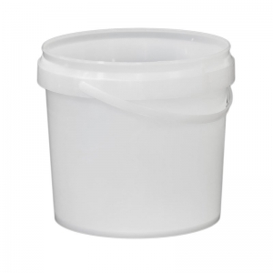 4L Natural PP Pail With TE Push On Neck