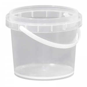 750ml Clear PP Pail With TE Push On Neck