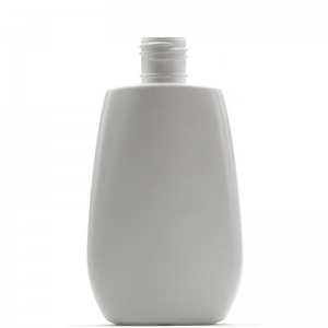 125ml White HDPE Oval Bottle With 22mm 415 Screw Neck