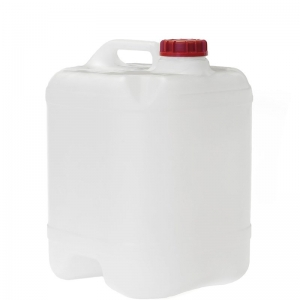 20L Natural HDPE DGA Undrilled & Bunded Cube With Red Te Cap With 58mm TE Screw