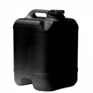 20L Black HDPE Drilled & Bunged Cube With 58mm TE Screw Neck