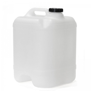 20L Natural HDPE Undrilled Cube With 58mm Screw Neck